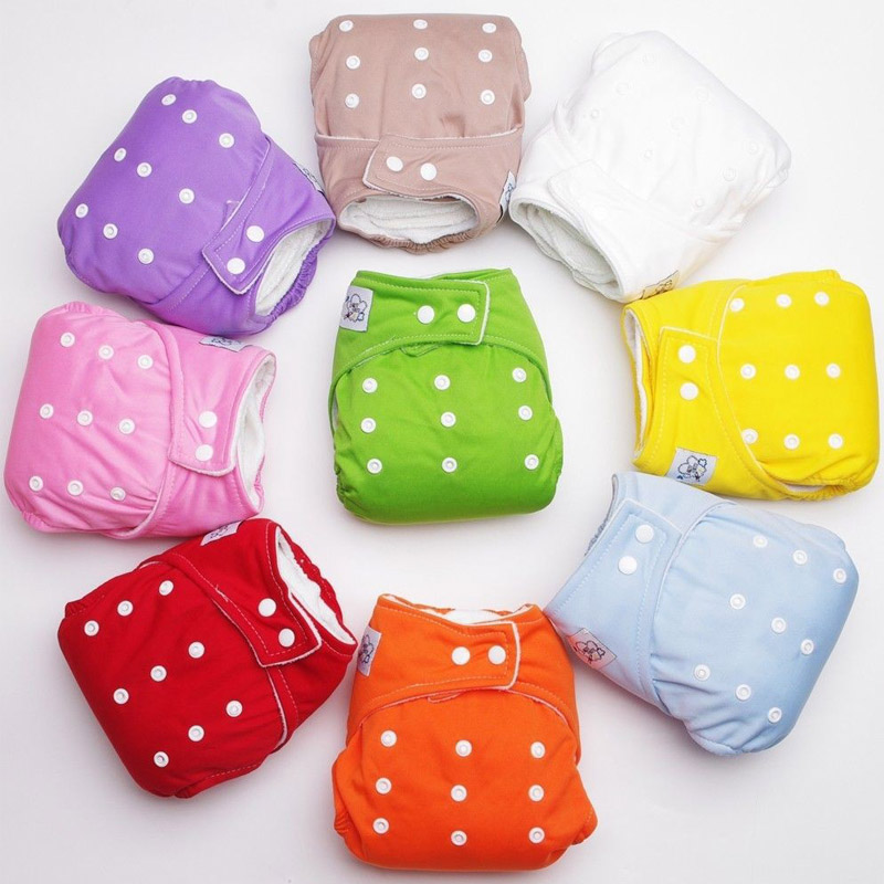 Whaloesale 500 PCS Brand Baby City Adjustable infant Washable Cloth diaper inserts Reusable diaper Baby Diapers bags 7 Colors