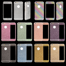Ultra thin Coque 5s Bling Diamond full Glitter Back Film Protector Sticker Case Cover fit For Apple iPhone 6 4.7 and 6 Plus 5s(China (Mainland))