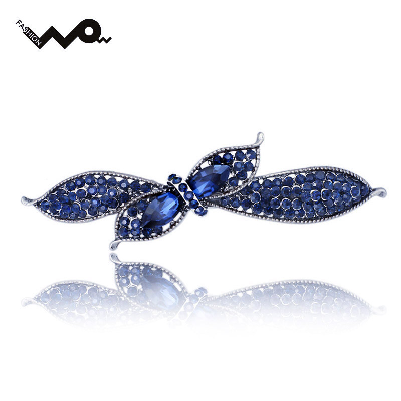 Unique Rhinestone Crystal Floral Bowknot Headwear Hair clip Barrette Hairpin Accessories Jewelry For Woman Girls Wedding F121(China (Mainland))