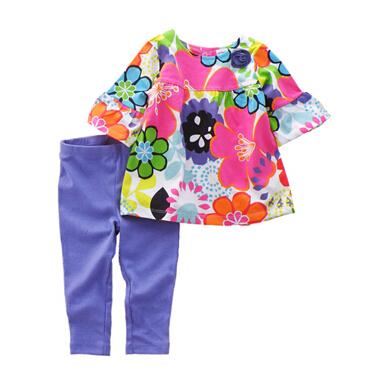 2015 spring original carters baby girls dress + legging 2pcs /  lot baby clothing sets ,100% cotton safe roupas infantil meninas<br><br>Aliexpress