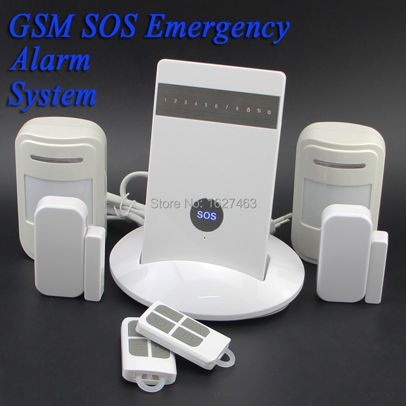 Free Shipping.KR-G15 Wireless IOS Android App SOS Voice Quad-band GSM Home Alarm System 2PIR+2Gap Detector Security Alarm System(China (Mainland))