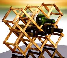 Mode casier à vin en bois titulaire vin de haute qualité boîte d'emballage de outils de cuisine en rack économique et pratique(China (Mainland))