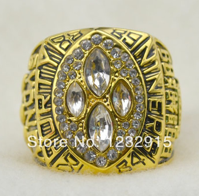 Direct Manufacturer 18K Gold Plated 1989 San Francisco 49ers championship ring (R109535)(China (Mainland))