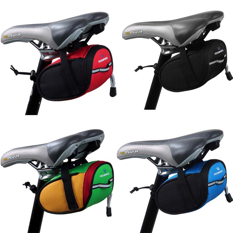 New Arrival Roswheel Outdoor Cycling Mountain Bike Bicycle Saddle Bag Back Seat Tail Pouch Package Black/Green/Blue/Red(China (Mainland))