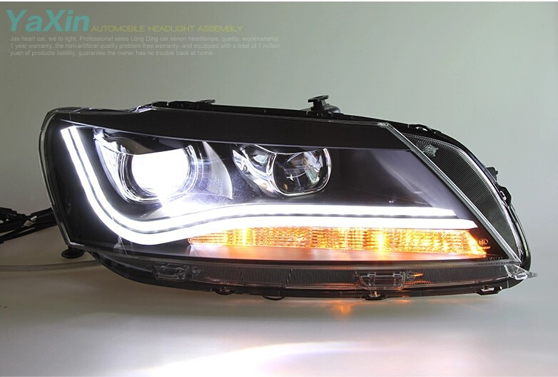 Auto Clud 2011-2015 For vw passat B7 headlights car styling LED light guide DRL Q5 bi xenon lens head lamps H7 car parking