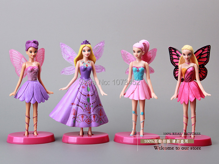 Presents: Thumbelina   princess  toys figures good gift for girls 4PCS /SET PVC