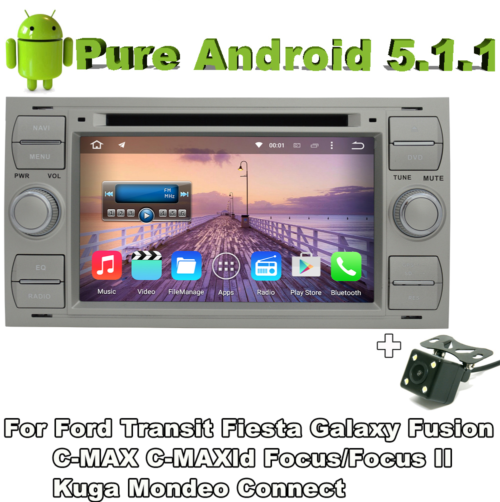 2 din android 5.1 quad core car audio dvd silver color for Ford Galaxy 2000 - 2009 Ford Kuga 2008-2011 with Rear View Camera(China (Mainland))