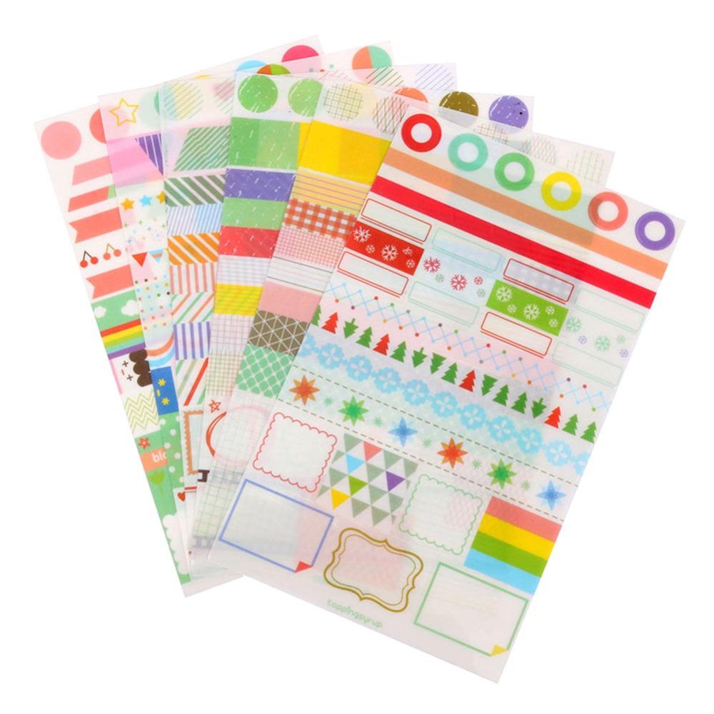 Гаджет  6pcs Simple Life Calendar Paper Sticker Scrapbook Calendar Diary Planner Decor #LT01203 None Офисные и Школьные принадлежности