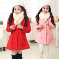 Winter Parkas For Girls Children Clothing Cotton Girls Winter Jackets Knitted Fur Hooded Coats Girls Tops