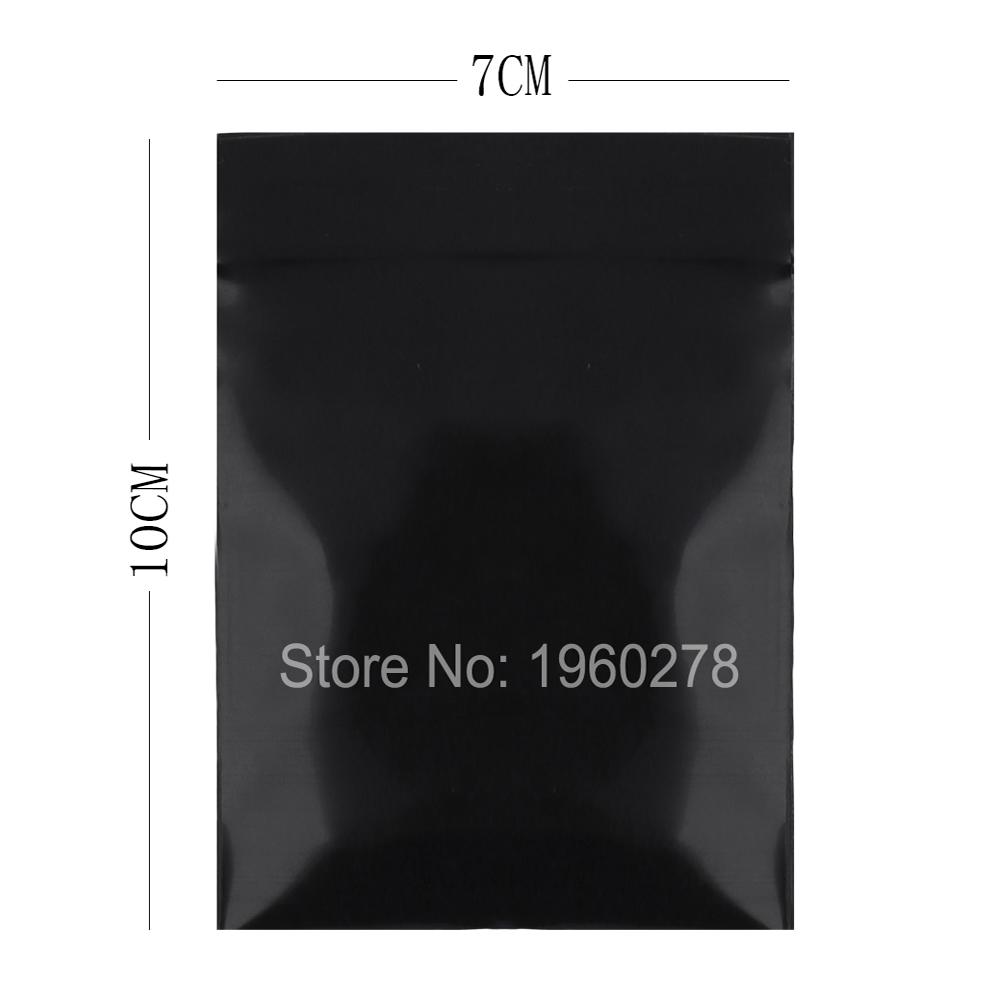 "7x10cm (2.7x3.9"") Brand new 100pcs small plastic ziplock bags Premium Poly Flat Black Plastic Zip Lock Pouches Storage bag(China (Mainland))"