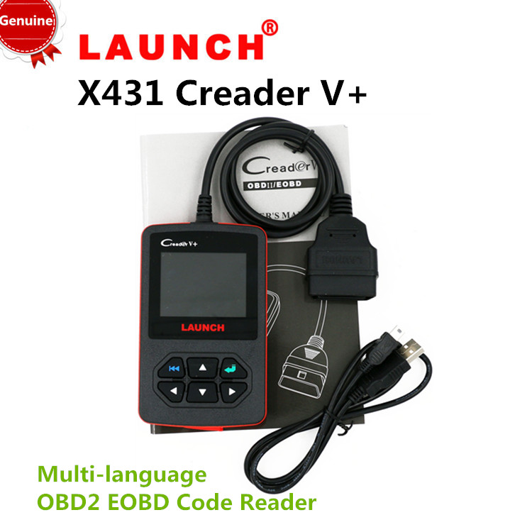 [Genuine]LAUNCH X431 Creader V+ Plus OBD2 II Scanner Car Diagnostic Tool DIY Fault Code Reader HK POST Free shipping(China (Mainland))
