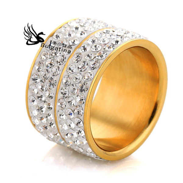 Top Fashion Punk-Pop Multi-layer Engagement Rings 18k Gold Plating Czech Crystals Punk Jewelry - Disha Findings store