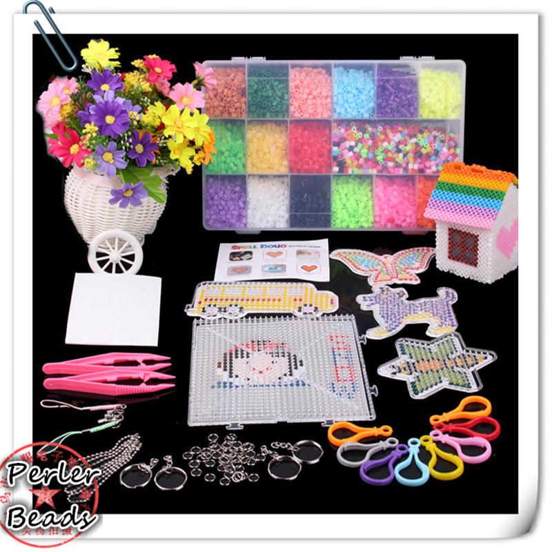 10000pcs Hama/ Perler Beads DIY 5mm with 6 Templates/2 Clip/2 Hot Paper with Good Quality for Kids Craft