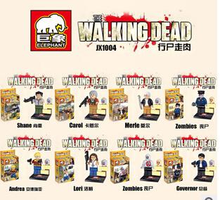8pcs/Sets The Walking Dead Minifigures Building Blocks Toys Shane/Carol/Merle/Lori Figure Model Bricks Toys Compatible Toys(China (Mainland))