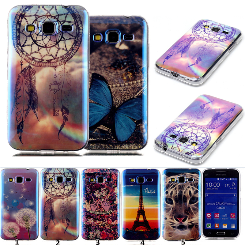 2015 TPU Slim Silicone cartoon 3d Soft Cell Phone Protector Case Cover For Samsung Galaxy core prime G360 g360h sm-g360h g361f(China (Mainland))