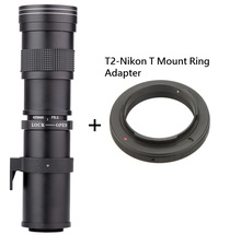 Buy Lightdow 420-800mm F/8.3-16 Super Telephoto Manual Zoom Lens + T2-Nikon T Mount Ring Adapter Nikon D5100 D7000 D800 D90 D600 for $93.19 in AliExpress store