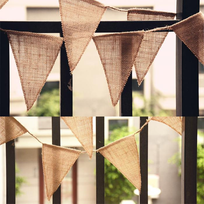3meter/Pcs Vintage Triangle Burlap Bunting Banner Wedding Party Photography Props Decoration Banner Event Party Supplies Flags(China (Mainland))