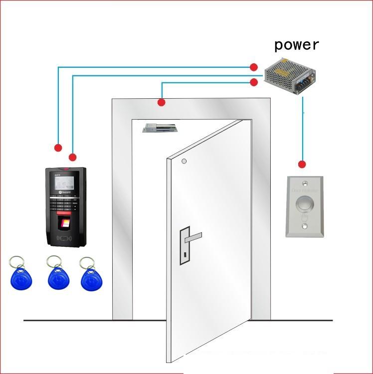 Free ship by DHL,finger access control kit, finger access control+power+ electric bolt lock+button+10 EM key fob,sn:FAC-05(China (Mainland))
