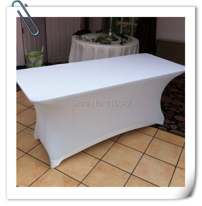Big Discount !!!! 30pcs Spandex 6ft. Rectangular Table Cover -30'heght(183cm*75cm*75cm) Free Shipping(China (Mainland))