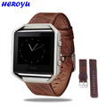 Luxury Genuine Leather Buckle Bracelet Sport Watch band Wrist strap For Fitbit Blaze Smart watch