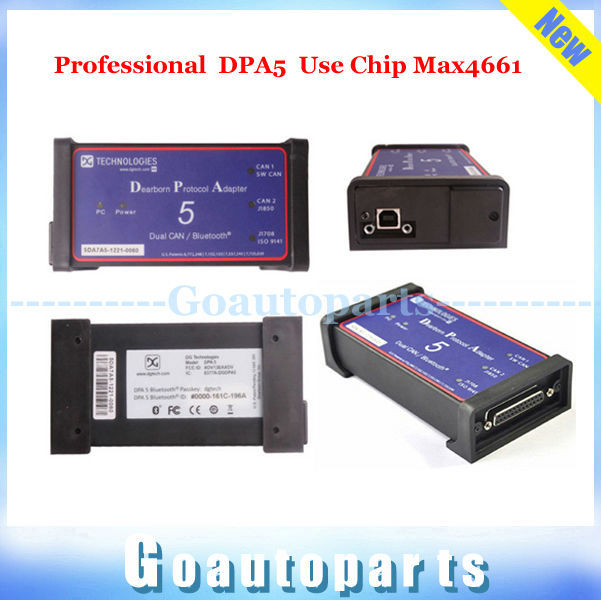 Professional Max4661 DPA5 Dearborn Portocol Adapter 5 Universal Heavy Duty Truck Scanner Without Bluetooth as NEXIQ Truck DPA 5(China (Mainland))