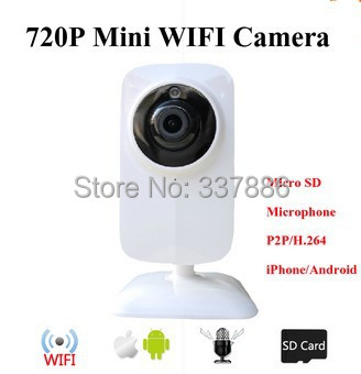 Mini 720P hd wireless security cameras TF SD Card P2P ip camera wifi support Two-way Intercom Motion Detection<br><br>Aliexpress