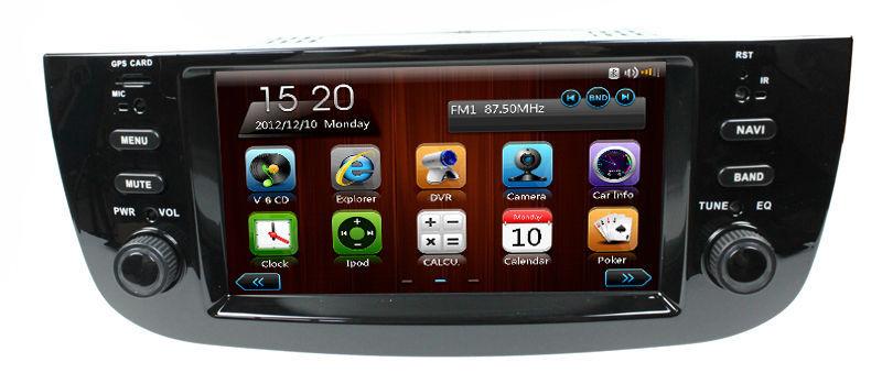 Central multimedia gps for Fiat Linea/punto car dvd with GPS Navi BT Ipod list USB ATV MP4/MP5 Steering wheel Control Radio(China (Mainland))