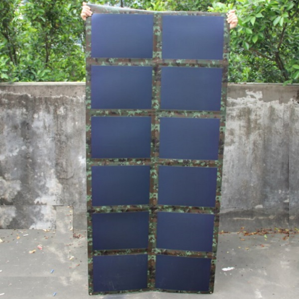 72W 18V Folded Solar Panel Charger Outdoor For12V Battery Charger Amorphous Silicon Thin Film Solar Bag Waterproof High Quality(China (Mainland))