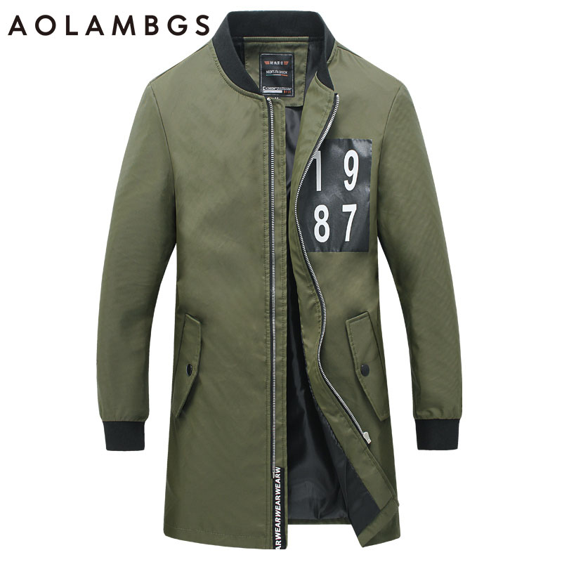 Men Jacket Fashion Casual Medium Long Jackets Slim Fit