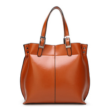 Buy 2017 new female package Europe and the United States fashion Tuo Te package oil wax leather shoulder oblique cross handbag for $51.93 in AliExpress store