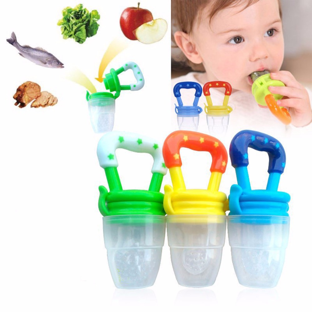 Baby Pacifier Clip Attache Sucette Kids Safe Nipple Fresh Food Mesh Fruit Teeth Bite Bag Feeder Teat Silicone Pacifier Bottles(China (Mainland))