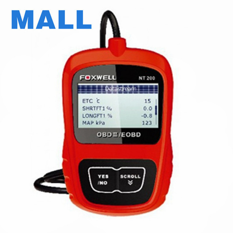 2016 Genuine Original Foxwell NT200 CAN OBDII/EOBD Code Reader Support Multi-Languages and Update Free Lifetime Free Shipping(China (Mainland))