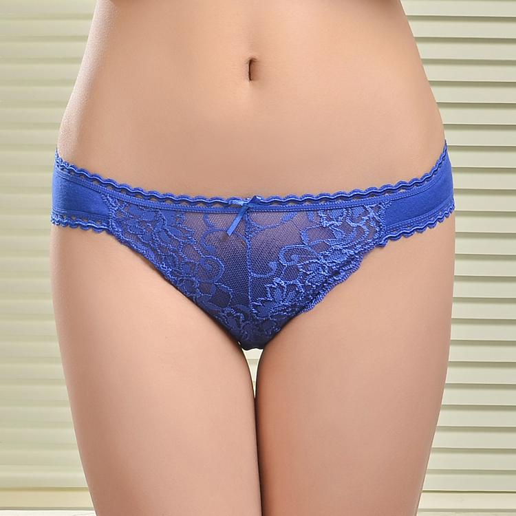 women cotton lace many color size sexy underwear ladies panties lingerie bikini underwear pants thong g-string 1pcs/lot 833(China (Mainland))