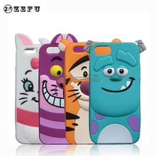 Buy Cute Cartoon Sullivan Case Apple iPhone SE 5 5S New Monsters Sulley Tiger Cheshire Cat Silicone Cover for $2.59 in AliExpress store