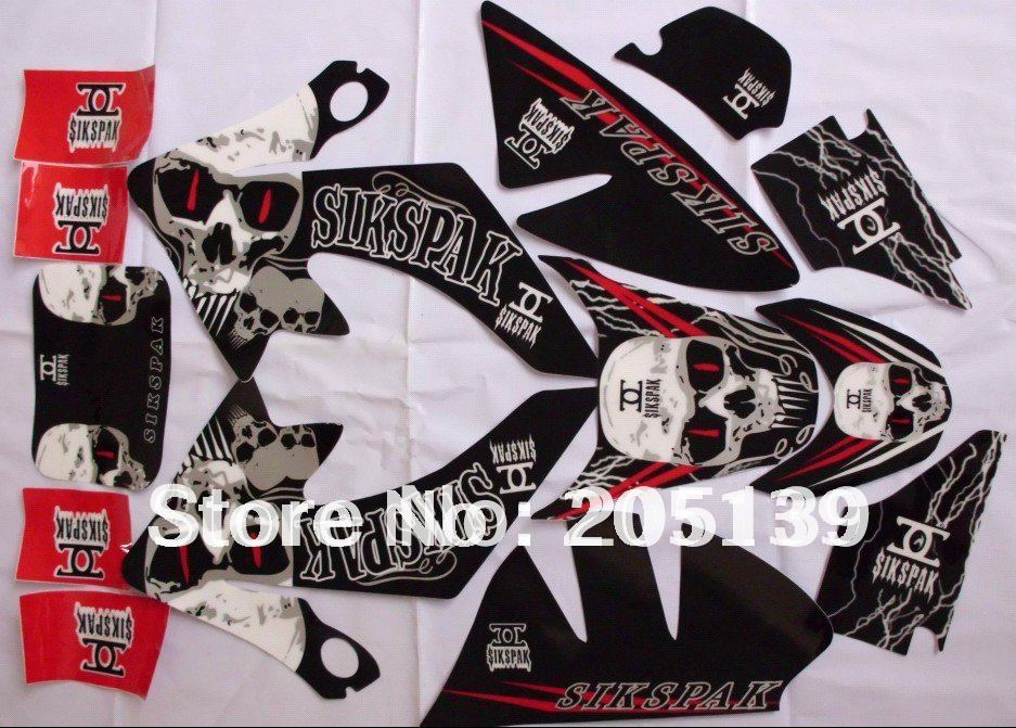 NEW MOTOCROSS 3M graphic decals sticker for honda moto dirt pit bike parts xr CRF50 50 -1(China (Mainland))