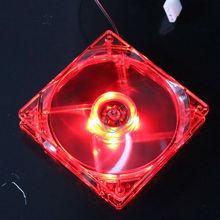 1PCS/Lot 12025 4Pin DC Red Light 120MM 12cm 120mm x 120mm x 25mm PC Case Comptuer LED Cooling 12V Fan(China (Mainland))