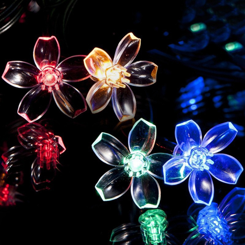 20LEDs Solar Powered LED Light Christmas Holiday Cherry Blossom lampe solaire Garden Outdoor Solar Lamps LED(China (Mainland))