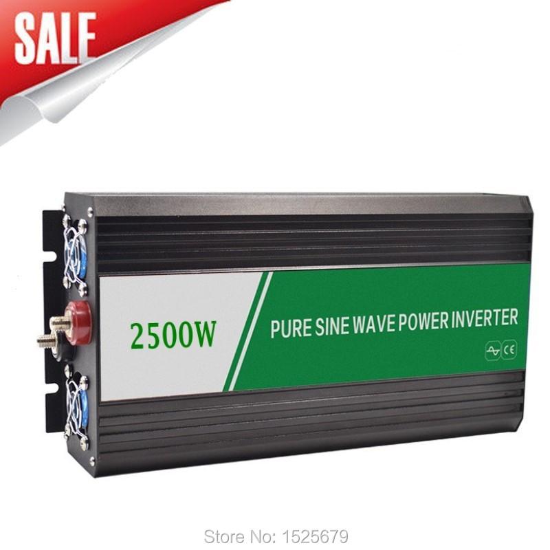 2500W Solar System Inverter DC12V Input TO AC 220V Output Pure Sine Wave Wind/Car/ Power Converter(China (Mainland))