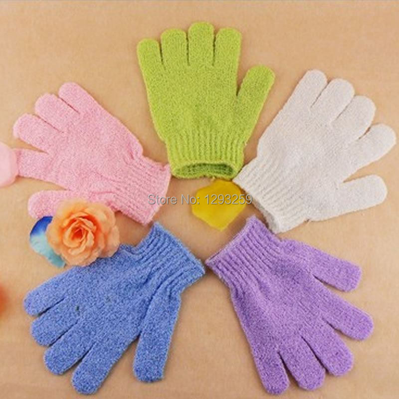 Free Shipping 1pcs/lot Nylon Scrubbing Gloves Bath Gloves Shower Gloves Cleaning Your Body rKG5(China (Mainland))