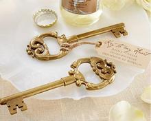 100 шт./лот + свадебной и подарок » ключ к моему сердцу » античная золотой для бутылок золотая свадьба душ пользу + бесплатная доставка