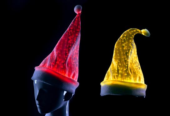 wholesale 10pcs/lot Christmas hat/ Sexy Xmas cap / led lighted santa claus hat for kid(China (Mainland))