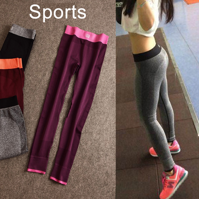 2015 Hot!! fitness women running tights sports push-up elastic sport pants women fitness women sport trousers running pants gym(China (Mainland))