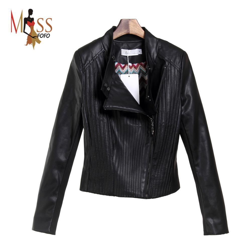 Wholesale & Retail Fashion Women Ladies PU Leather Short zipper biker Jacket Outerwear Basic Jackets top quality 803(China (Mainland))