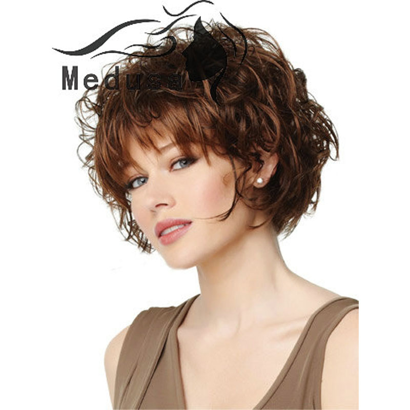 Medusa hair products: Natural Curly Shag styles Short bob wigs with ...