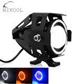 1 Piece Devil Angel Eyes U7 Universal LED DRL Motorcycles Driving Headlights Fog Lights Spotlight