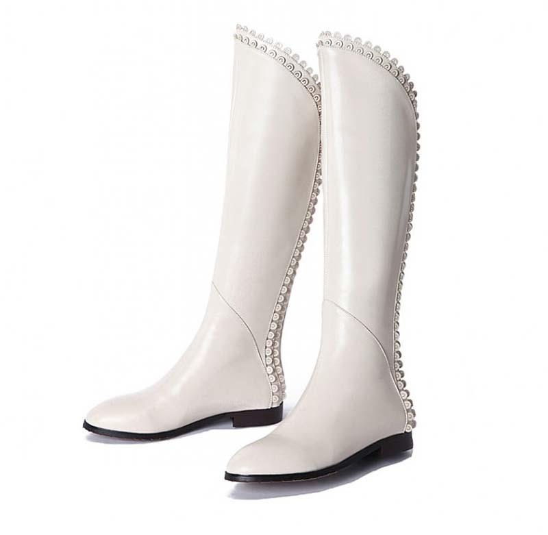 Здесь можно купить  2015 New Women Fashion Boots Knight high boots Spring Autumn Winter Pink Black White Boot G1162  Обувь