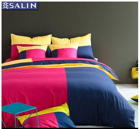 3d pink yellow green blue red white bedding set king queen - Red white and blue sheets ...