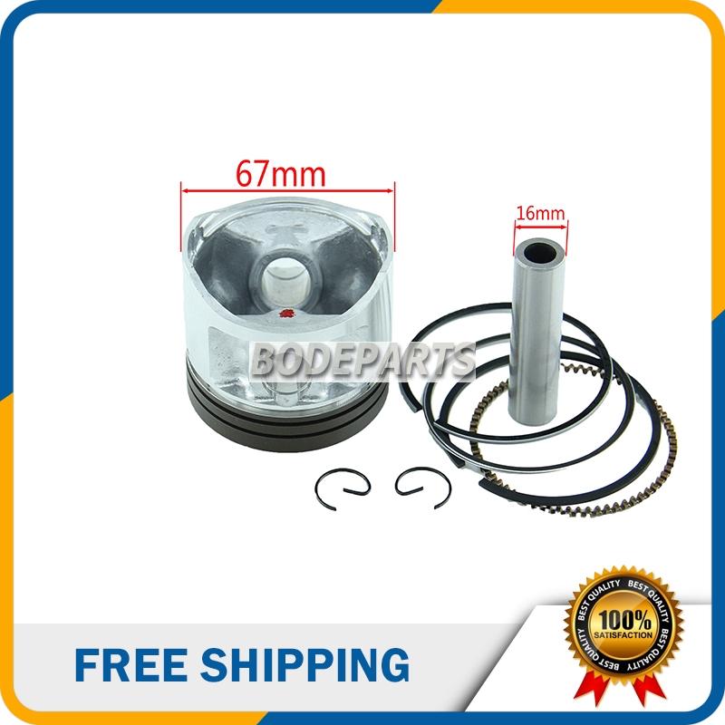 HH-101 67mm Piston 16mm Pin Piston Kits for all Chinese 250cc Zongshen,Longcin,Lifan CG250 Dirt Motor Bike Atv Engine Parts(China (Mainland))