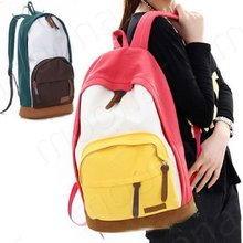 Promation! New 2013 casual women's colorful canvas backpacks, girl lady student school bags , travel shoulder bag  B377(China (Mainland))