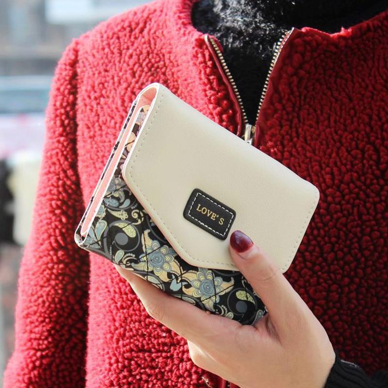 Vogue Women Wallet 5 Colors Popular Portable Change Cash Short Mini Purse Floral Envelope Delicate Casual Lady Wallets<br><br>Aliexpress